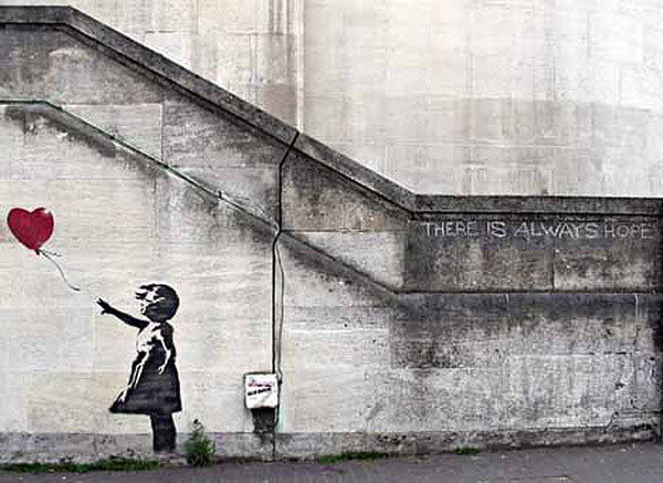 Bansky hope girl